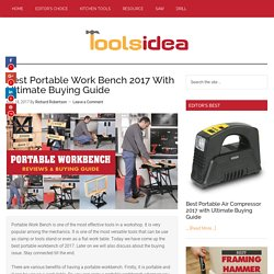 [Updated] Best Portable Work Bench 2017