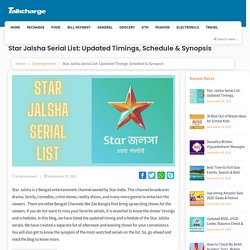 Star Jalsha Serial List: Updated Timings, Schedule & Synopsis