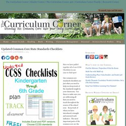 Updated Common Core State Standards Checklists