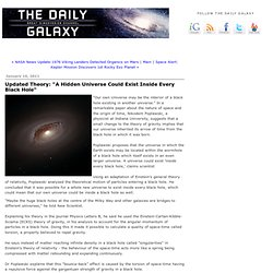 "Updated Theory: ""A Hidden Universe Could Exist Inside Every Black..."