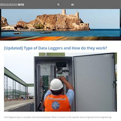 Type of Data Loggers and How do they work?