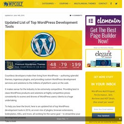 Updated List of Top WordPress Development Tools – WPColt