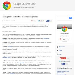 Live updates on the first Chromebook preview