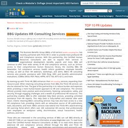 BBG Updates HR Consulting Services