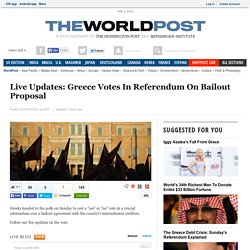 Live Updates: Greece Votes In Referendum On Bailout Proposal