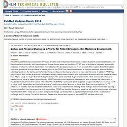 PubMed Updates March 2017. NLM Technical Bulletin. 2017 Mar–Apr