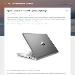 Updates windows 10 of your HP Laptop in simple steps