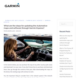 What are the steps for updating the Automotive maps and software through Garmin Express?