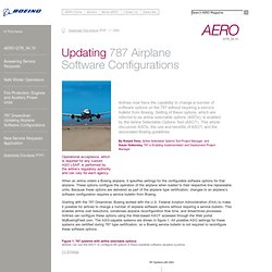 AERO - Updating 787 Airplane Software Configurations