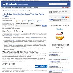 7 Tools For Updating Facebook Timeline Pages