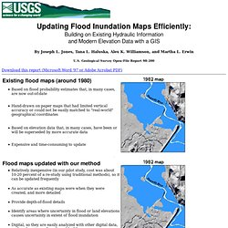 Updating Flood Maps Using GIS