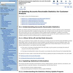 Updating Accounts Receivable Statistics for Customer Analysis
