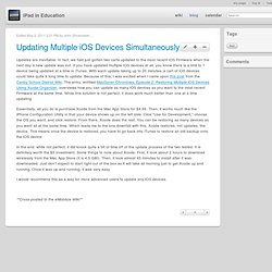 Updating Multiple iOS Devices Simultaneously