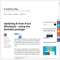 Updating R from R (on Windows) – using the {installr} package
