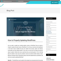 Updating Wordpress - Properly Upgrade Step by Step