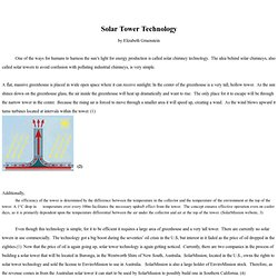 "solar updraft tower power plant-sometimes also called ""solar chimney"" or"