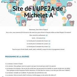 Upe2a - site élèves