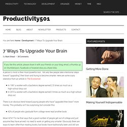 Upgrade Your Brain - 7 Ways