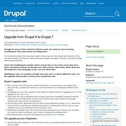 Upgrade from Drupal 6 to Drupal 7