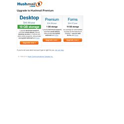 Upgrade to Hushmail Premium - Hushmail – Free Email with Privacy