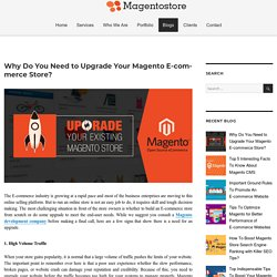 Why Do You Need to Upgrade Your Magento E-commerce Store? – Magento Store Blog