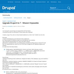 Upgrade Drupal 6 to 7 - Mission Impossible