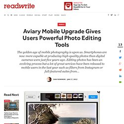Aviary Mobile Upgrade Gives Users Powerful Photo Editing Tools