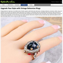 Upgrade Your Style with Vintage Bohemian Rings