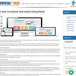 5 Ways to Upgrade your Website Development