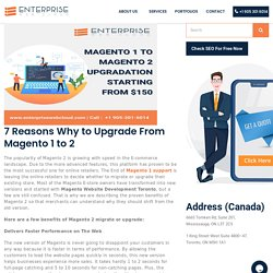Upgrade your website from magento 1 to 2