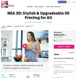 NEA 3D: Stylish & Upgradeable 3D Printing for All