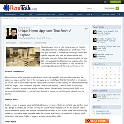 Unique Home Upgrades That Serve A Purpose - RenoTalk.com ™
