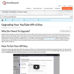 Upgrading Your YouTube API v3 Key - MindTouch Customer Success Center