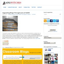 Upgrading Blogs Through Lens of SAMR