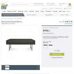 Blu Dot Bank Upholstered Bench