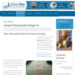 Expert Carpet and Upholstery Cleaning San Diego Guaranteed. Safe-No Residue
