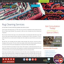 Rug and Upholstery Cleaning Services