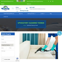 Upholstery Cleaning Toorak - 0451 010 043 - Sofa & Couch Cleaning