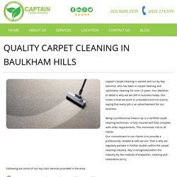Upholstery and Domestic Steam Cleaner in Baulkham Hills - Captain Carpet Cleaning