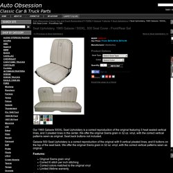 Seat Upholstery, 1965 Galaxie / 500XL, 500 Seat Cover - Front/Rear Set