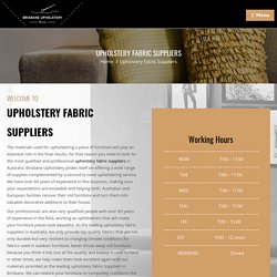 Reestablish Upholstery Fabric Suppliers