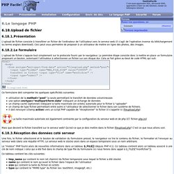 Upload de fichier - PHP Facile!