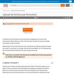 Upload de fichiers par formulaire
