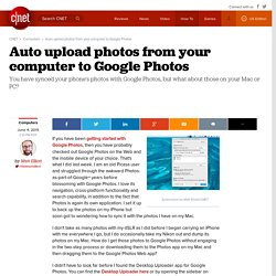 Auto upload photos from your computer to Google Photos