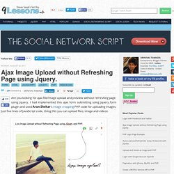 jQuery/Ajax upload w/o refreshing page