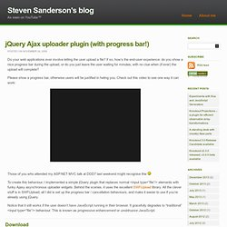 jQuery Ajax uploader plugin (with progress bar!) « Steve Sanderson's blog