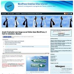 Avant d'uploader une image ou un fichier dans WordPress, il faut le renommer. Manuel.