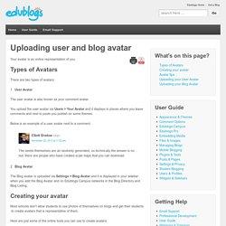 Uploading user and blog avatar