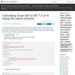 Blog de l'équipe support IIS/Azure France — French IIS/Azure Support Team Blog