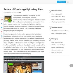 Top Image Uploading Sites for Photo Sharing and Storing